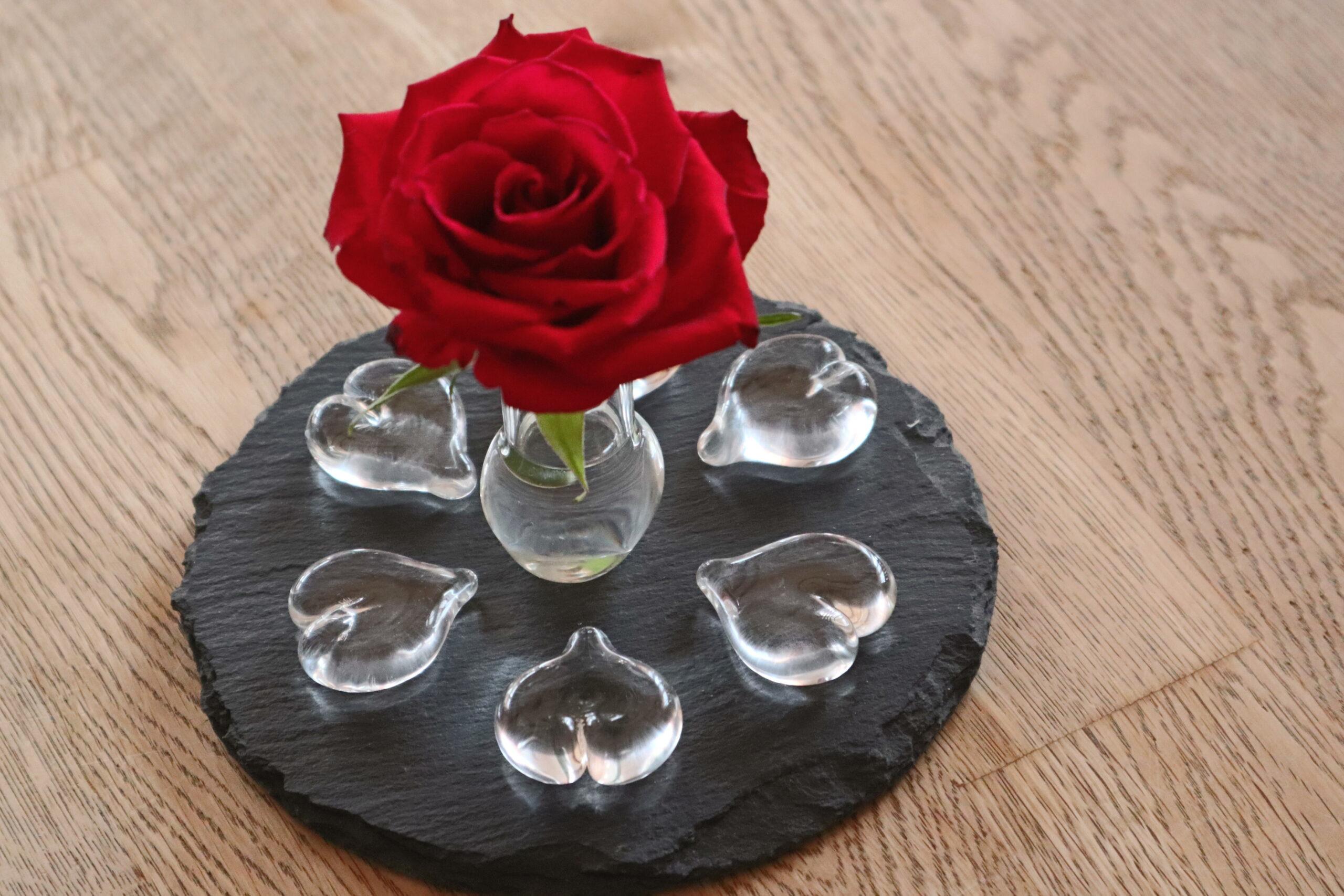 Herzli aus Glas